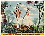 MARY POPPINS ORIGINAL BRITISH LOBBY CARD JULIE ANDREWS DICK VAN DYKE WALT DISNEY -  Silverscreen