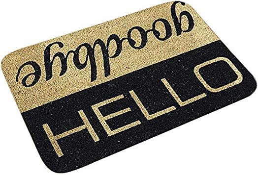 Cliramer Indoor Doormat, Non Slip Absorbent Resist Dirt Entrance Rug, 60x40cm Large Size Machine Washable Low-Profile Inside Floor Door Mat C