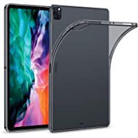 """ESR Rebound Soft Shell Case for iPad Pro 12.9"""" 2020 & 2018, Clear TPU Back Cover, Supports Apple Pencil Wireless Slim…"""