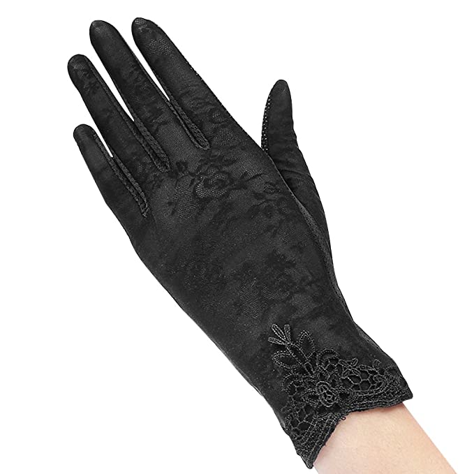 734737e49 Summer Spring Women Touch Screen Uv Protection Lace Net Driving Dressup  Gloves