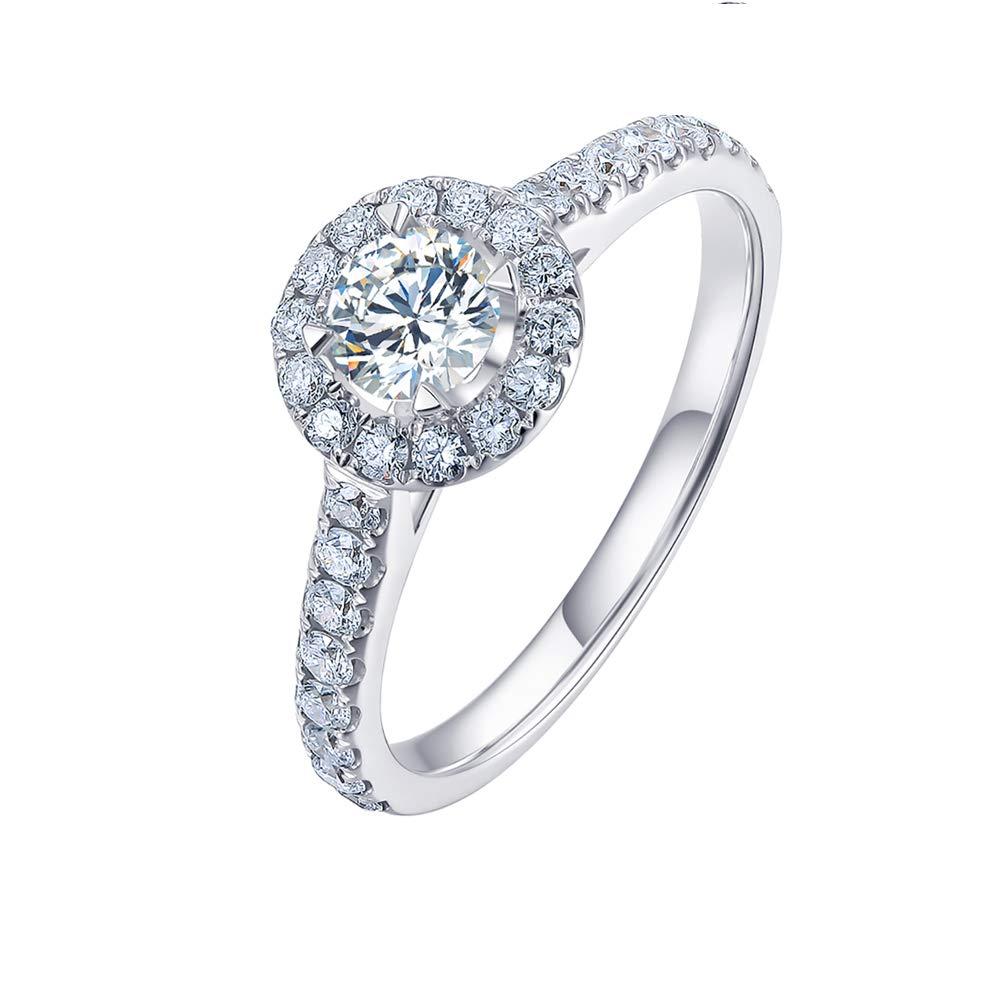 Damen Ring Silberring 925 Silber mit Zirkonia Valentinstag Weihnachts Geburtstag