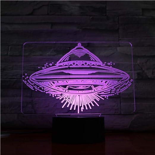 Ydwdufo Lámpara de mesa Escritorio Ilusión 3D Sensor táctil 7 ...