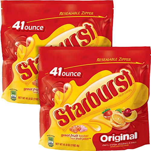 Starburst Original Fruit Chews Candy Bag, 41 ounce, (2 (How Many Starburst In A Bag)