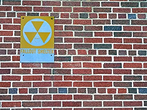 Wallmonkeys Fallout Shelter Sign Peel and Stick Wall Decals WM8336 (24 in W x 18 in H) (Nuclear Bomb Decal)