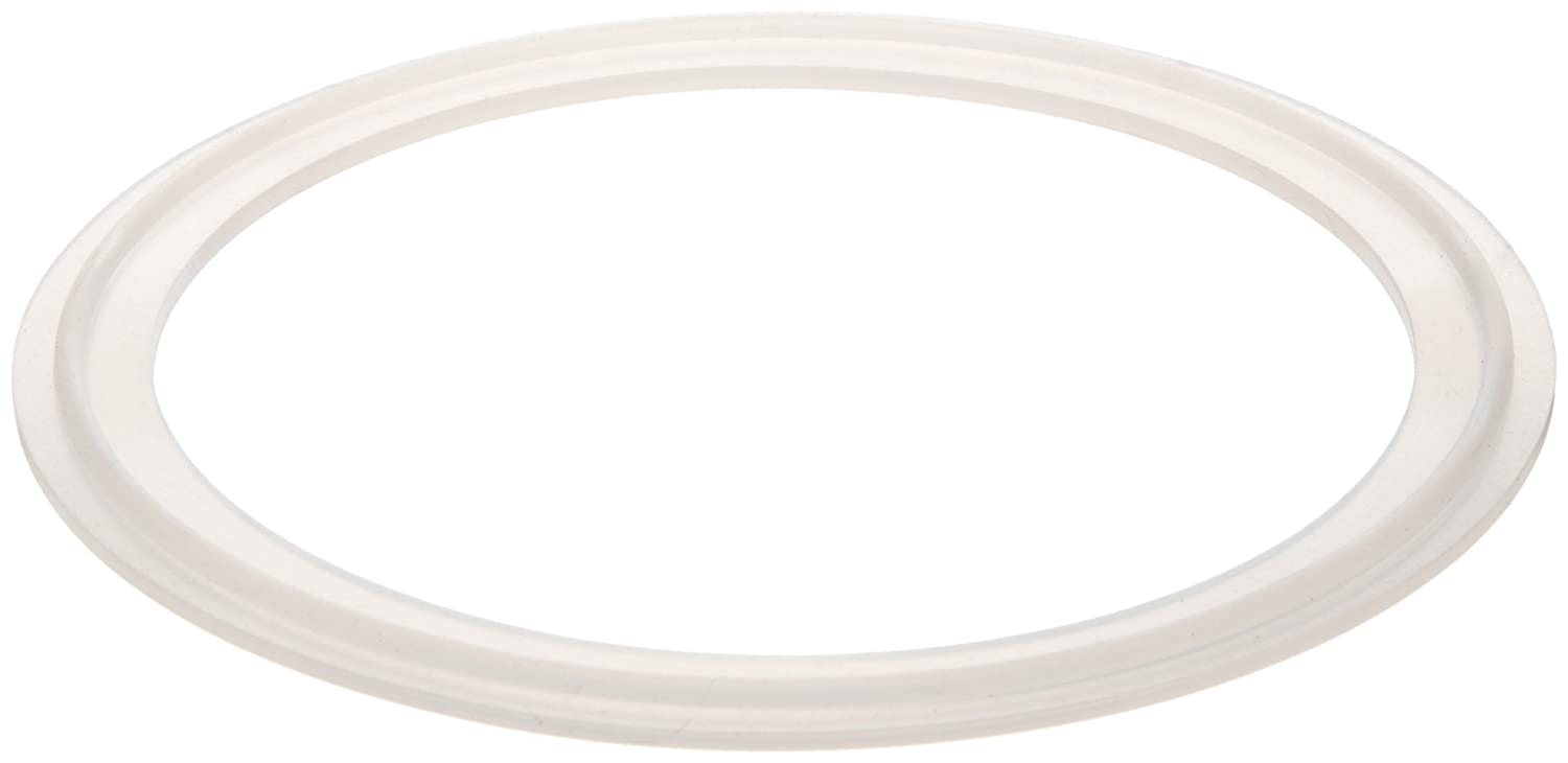 3.050 OD Pack of 1 2-1//2 Tube OD Clear 2.400 ID Silicone Gasket for Quick-Clamp Fitting 0.203 Thick