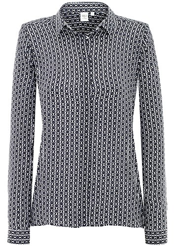 ETERNA long sleeve Blouse MODERN FIT printed azul marino