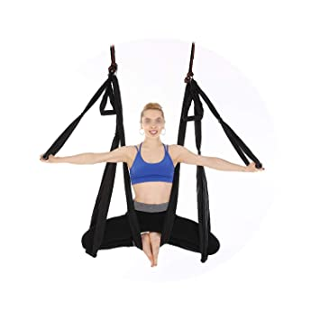 Amazon.com : S-D-A Anti-Gravity Fabric Yoga Hammock, Blue ...