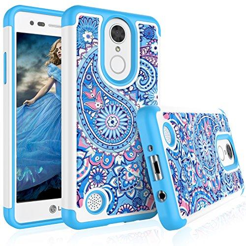 - LG Aristo/LG Fortune/LG Phoenix Case, LG Risio 2 Cute Case, Tekcoo [Tmajor] Pattern Lovely [Paisley Blue] Bling Crystal Studded Rhinestone Rubber Hard Plastic Bumper Cases Cover for LG K8 2017