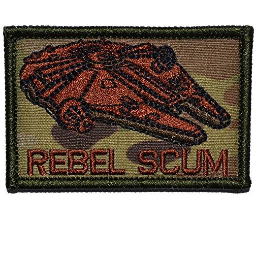 Rebel Scum Alliance 2x3 Morale Hook Fastener Patch (Multicam/Spice)