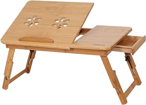 Mesa para Ordenador Portatil de Bamb¨², Bandeja de Desayuno con ...