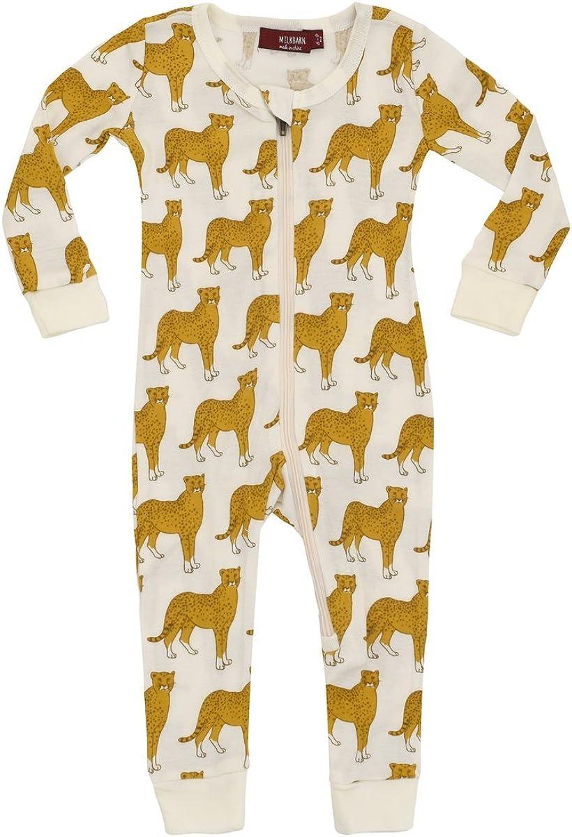 Cheetah MilkBarn Organic Cotton Zipper Pajama
