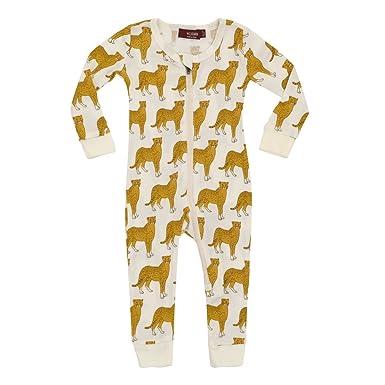 d62d8df14 Amazon.com  MilkBarn Organic Cotton Zipper Pajama - Cheetah  Clothing