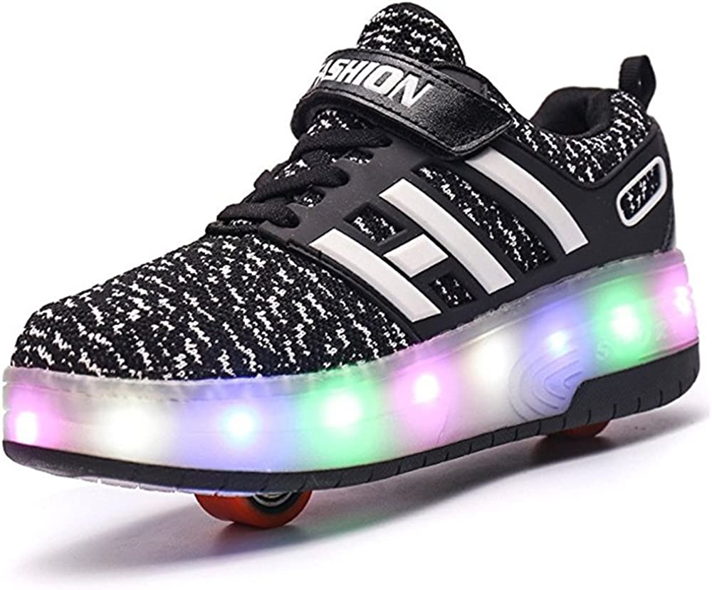 A2kmsmss5a Kids LED Light Flash Girls Boys Sports Shoes Roller Skate LED Shoes