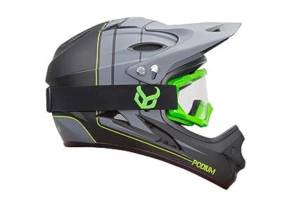 Amazon Com Demon Podium Full Face Mountain Bike Helmet With Green