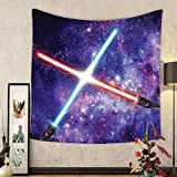 Gzhihine Custom tapestry Galaxy Tapestry Illustration of Famous Town of Famous Movie Set on the Planet Fantasy Galaxy Wars Themed Pattern Bedroom Living Room Dorm Decor 60 W X 40 L Brown Blue