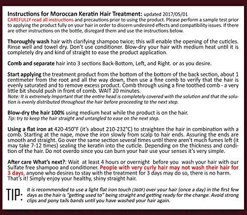 Moroccan Keratin Most Effective Brazilian Keratin Hair Treatment SET 120ML x4 Professional Salon Formula Shipping Available Worldwide by Moroccan Keratin (Image #1)