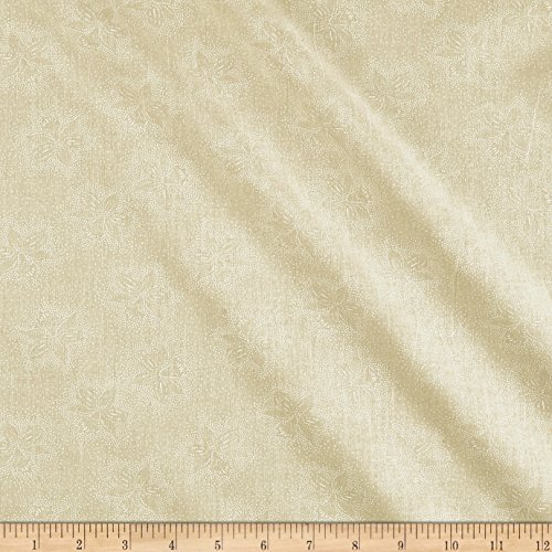 (108in Wide Back Monotones Floral White/Tan Fabric by The Yard)