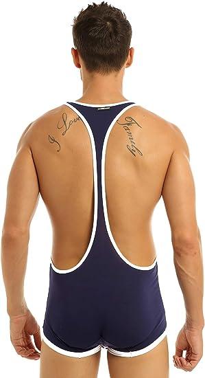 Men/'s Lycra Solid Wrestling Singlet Leotard Bodysuit Jumpsuit Underwear Boxers