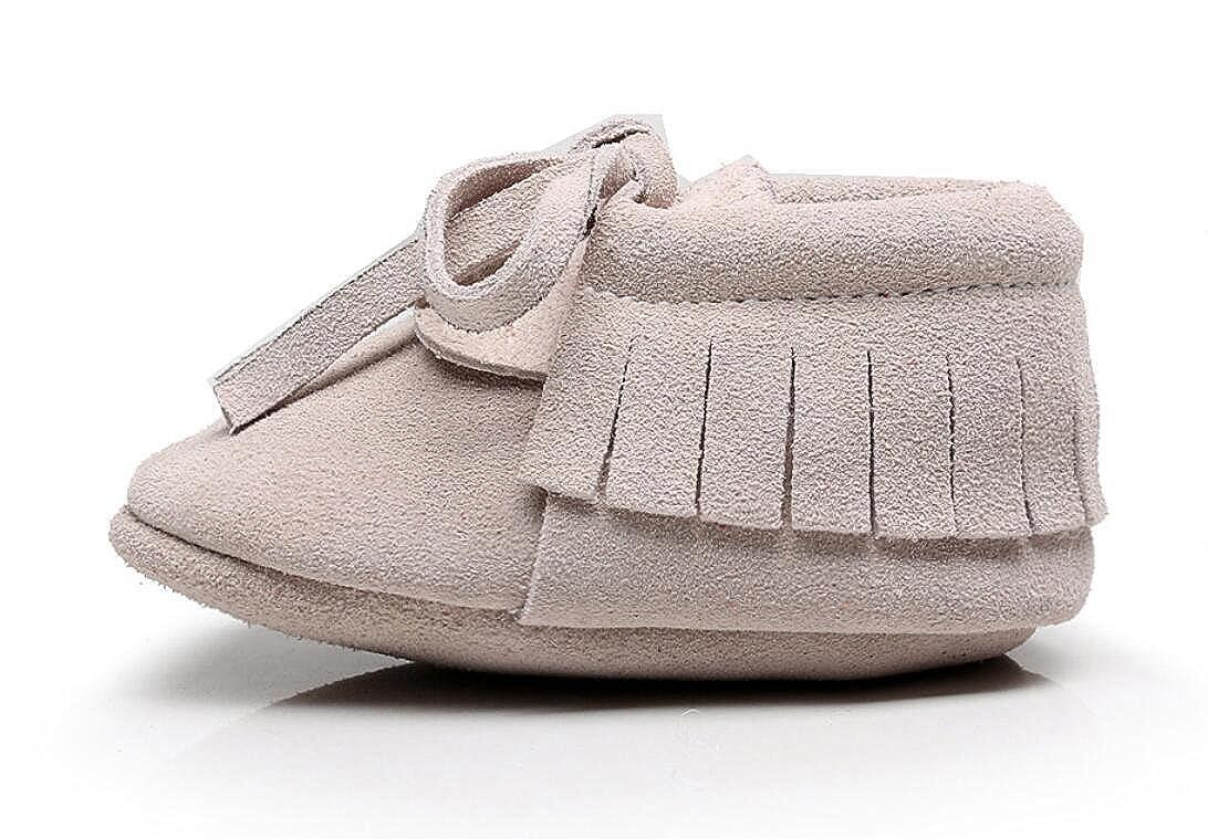 b19a6e7c90853 Backbuy Confortables Chaussons Pour Bébé à Cuir Nubuck Lacets Up Chaussures  Premiers Pas Filles  Amazon.fr  Chaussures et Sacs