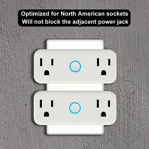 WIFI Smart Plug Mini Outlet with Energy Monitoring Works with Amazon Alexa Echo and Google Assistant … (White) by venus XU (Image #4)