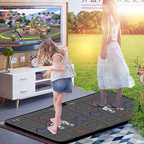 Dance mat 3D Double Yoga Somatosensory Game Machine 32g+8g Running Memory,Wireless Connections Pu Material Cozy Massage Blanket, Unlimited Update Song Game by Dance mat (Image #3)