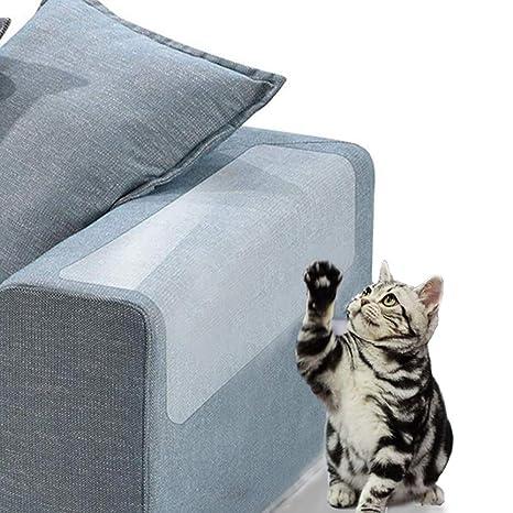 Jakarol Protector de Muebles de Gato,2 piezas Autoadhesivo, Vinilo Transparente para Evitar arañazos