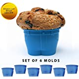 Set of 6 Silicone Cupcake Molds. Reusable Silicone Muffin Baking Cups, Nonstick Muffin Cups Cake Molds. Novelty Jean Shaped Silicone Bake Cups Create a Hilarious  Look