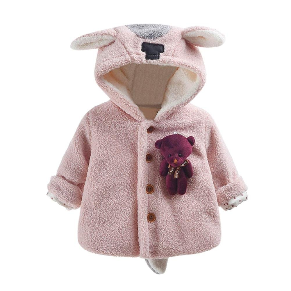 Trendinao Baby Infant Boys Girls Clothes Bear Hooded Coat Cloak Jacket Thick Autumn Winter Warm Clothes Outwear