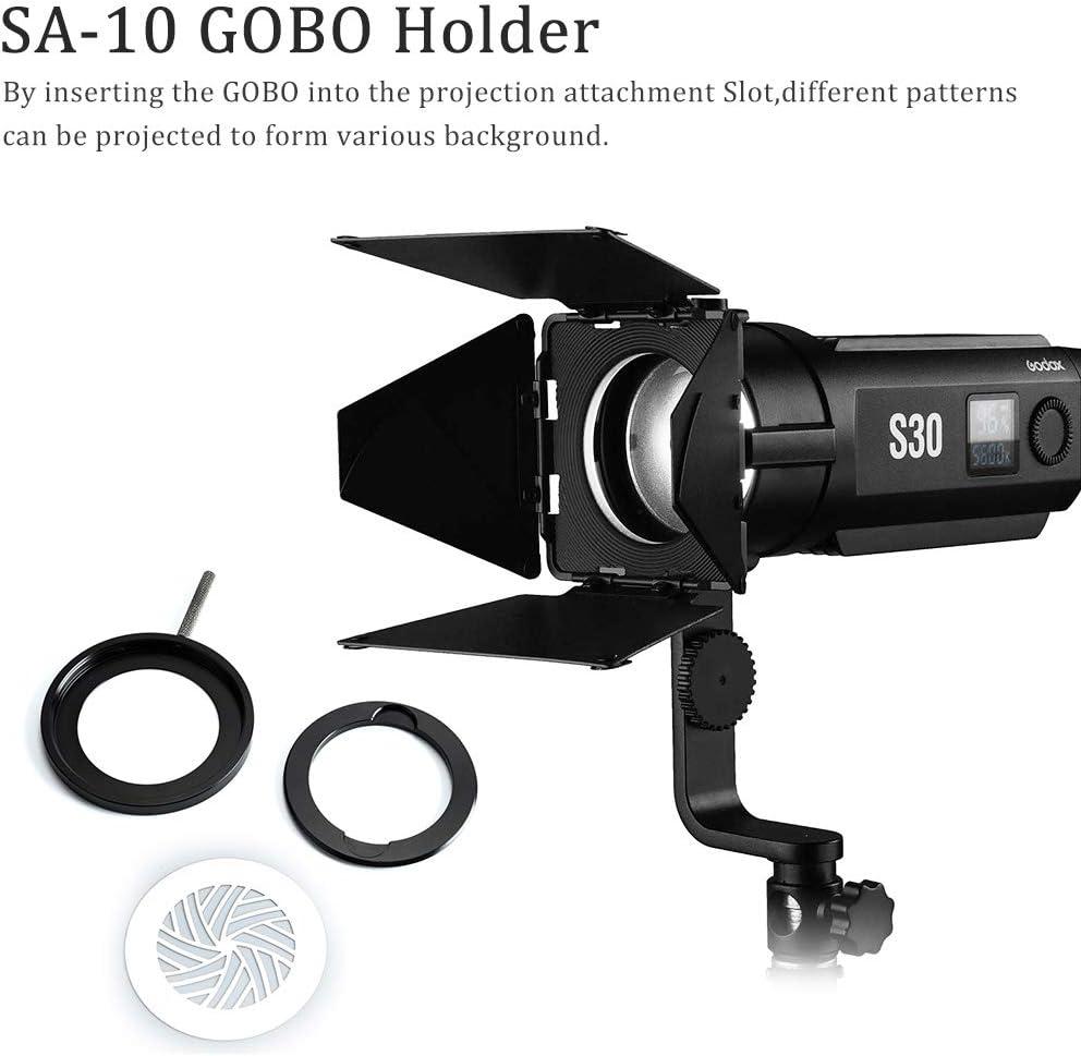 GODOX S30 SA10 Soporte GOBO para Godox S30 LED Luz de Enfoque de Video SA-10