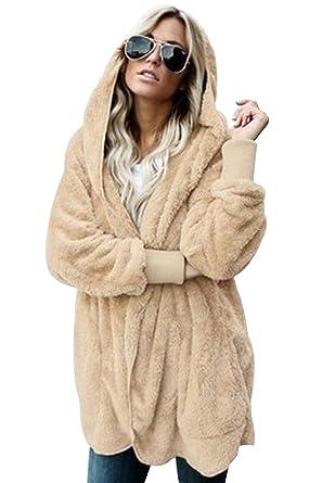 Giubbino Donna Pelliccia Sintetica Pullover Cappotto Invernale Moda Corto  Manica Pipistrello Giacche Casuale Maglione Felpa Elegante 4f5a7d6b4b7