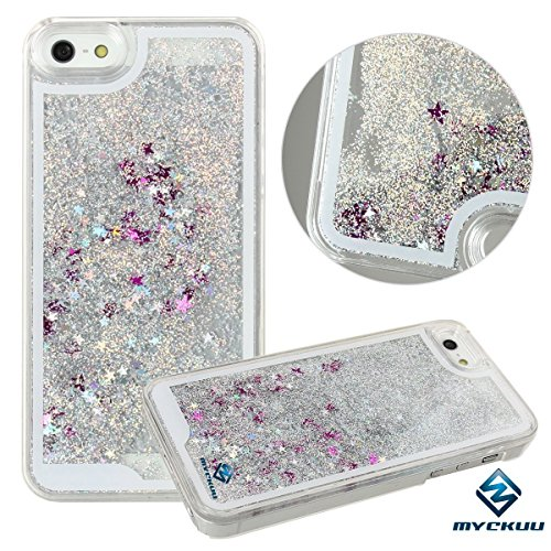 iPhone 6s case,iphone 6 case, Liujie Liquid, Cool Quicksand Moving Stars Bling Glitter Floating Dynamic Flowing Case Liquid Cover for Iphone 6 (silver+rose)