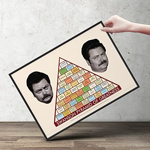 It's just a photo of Ron Swanson Pyramid of Greatness Printable Version inside workplace
