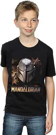 Star Wars Niños The Mandalorian Helmet Camiseta