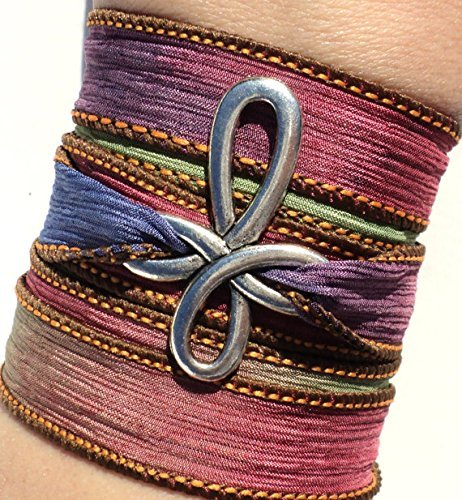 - Cross Silk Wrap Bracelet Yoga Jewelry Necklace Spiritual Boho Unique Gift For Her Religious Jewelry Christian