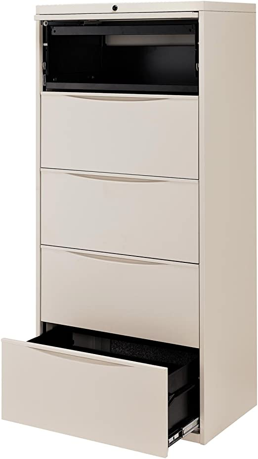 30 W Premium Lateral File Cabinet 5 Drawer Putty Office Products Amazon Com