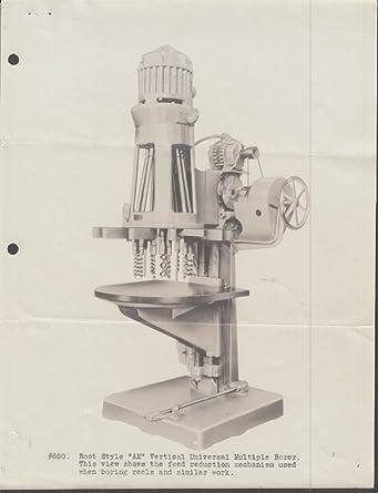 B M Root AMR Reel Borer photo, sell sheet & cover letter 1936 York ...