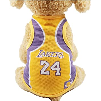 d83217513 Minkoll Sports Dog Mesh Vest T-shirts, Pets Clothes Cat Shirt Pet Clothing  Summer Sweatshirt Football World Cup Clothes,Lakers-M: Amazon.co.uk: Pet  Supplies