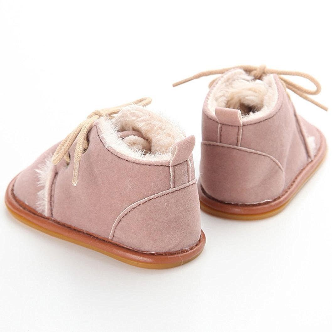 fd73a06f9 GenialES Patucos Botitas con Forro Polar para Bebé Calzado para Bebe  Primeros Pasos Suaves 9 a 12 Meses