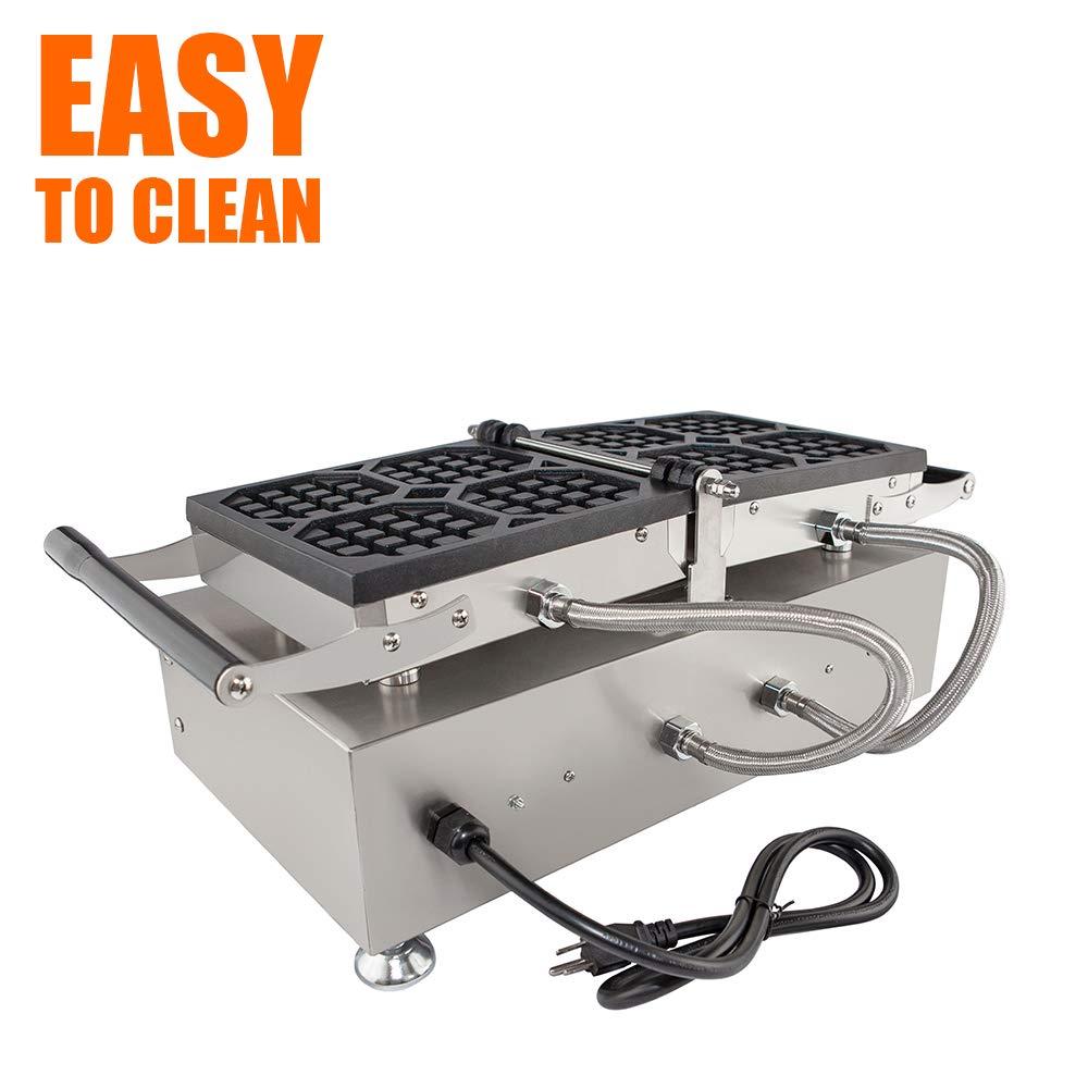 ALDKitchen Swing type BELIGIUM Waffle maker Nonstick Electric Egg Biscuit Roll Maker Machine Bake Machine (4 Waffles) by ALDKitchen (Image #5)