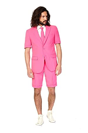 big sale a135a 6947e Opposuit – Mr Pink Sommer Anzug Herren Gr. EU 56: Amazon.de ...