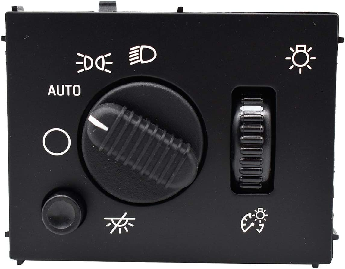 Headlight Switch for Chevy Silverado Suburban Tahoe Avalanche GMC Sierra Yukon Cadillac Escalade 2003-2007 Replace 19381535 D1595G 15194803 Headlamp Instrument Panel Dimmer LED Light Dome Lamp Switch