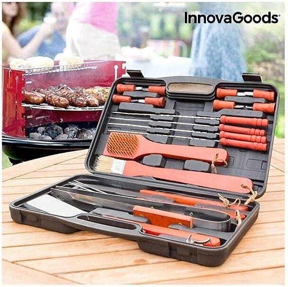 InnovaGoods IG116868 Maletín para Barbacoas, Unisex Adulto, Negro/Naranja, Talla Única: Amazon.es: Deportes y aire libre