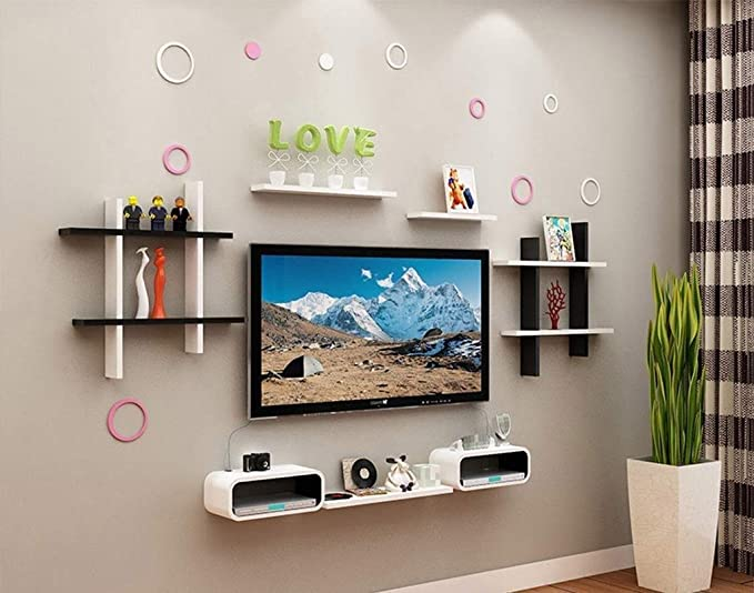 Tytzsmsj Living Room Tv Background Wall Decoration Frame Divider Wall Panel Bookcase Modern Minimalist Wall Shelf Shelf Furniture Decor