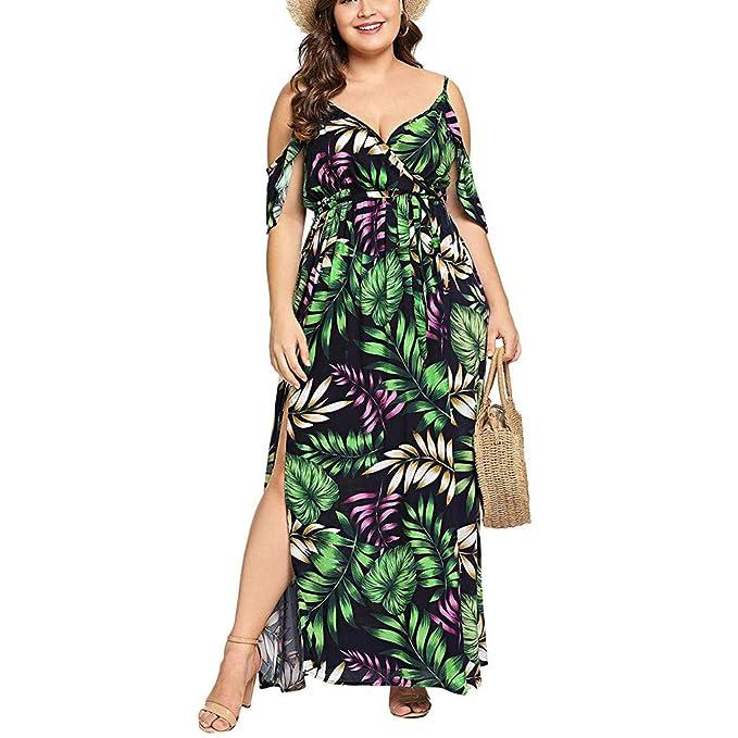Amazon.com: Lovor Women\'s Plus Size Cold Shoulder Floral ...