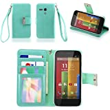 PU Leather Flip Cover for Moto G