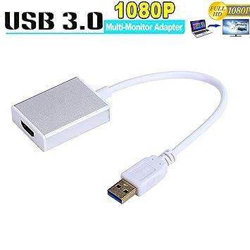 Adaptador USB a HDMI USB 3.0 A HDMI Adaptador Cable CGBOOM Full HD 1080P Vídeo Gráfica