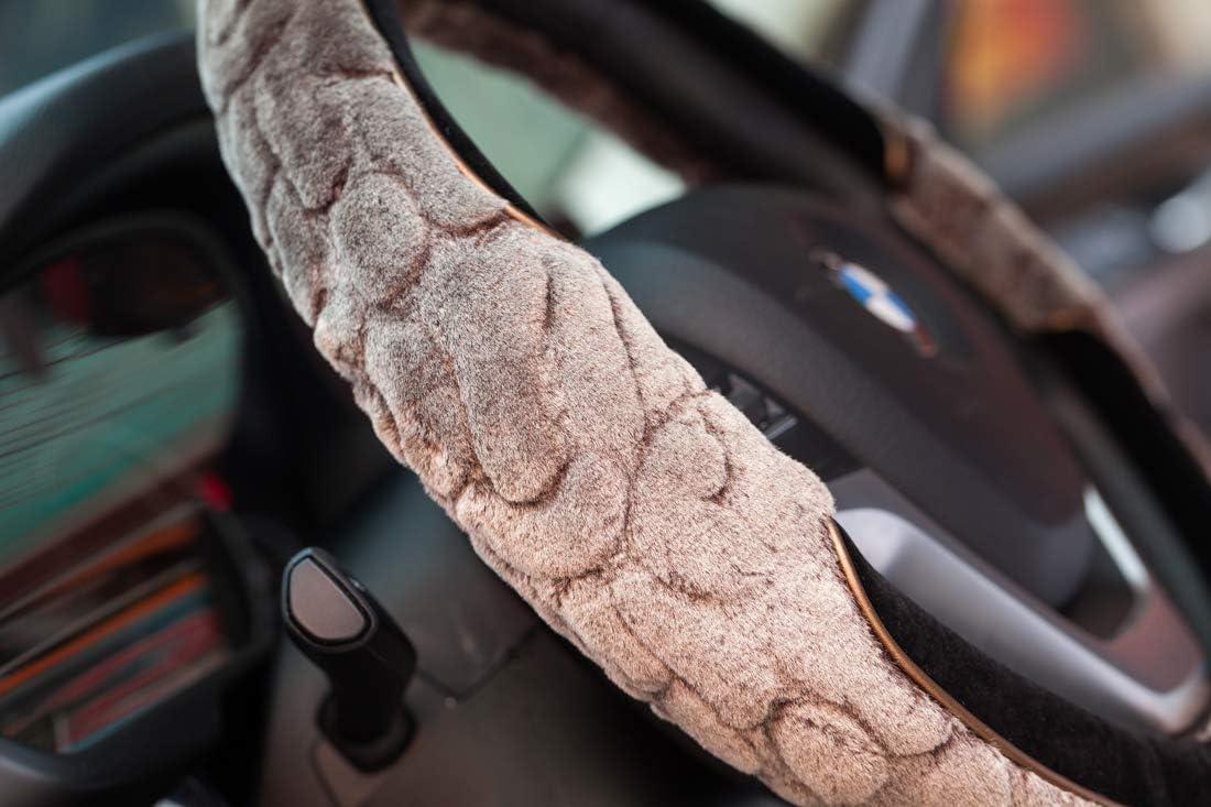 Super Accessories Auto Steering Wheel Cover Black Smooth Durable Microfiber Leather Car Truck SUV Black