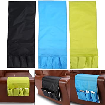 4 Pockets Storage Organizer Hanging Bag Couch Sofa Armchair Remote Control  Pocket Holder Folded Pouch,