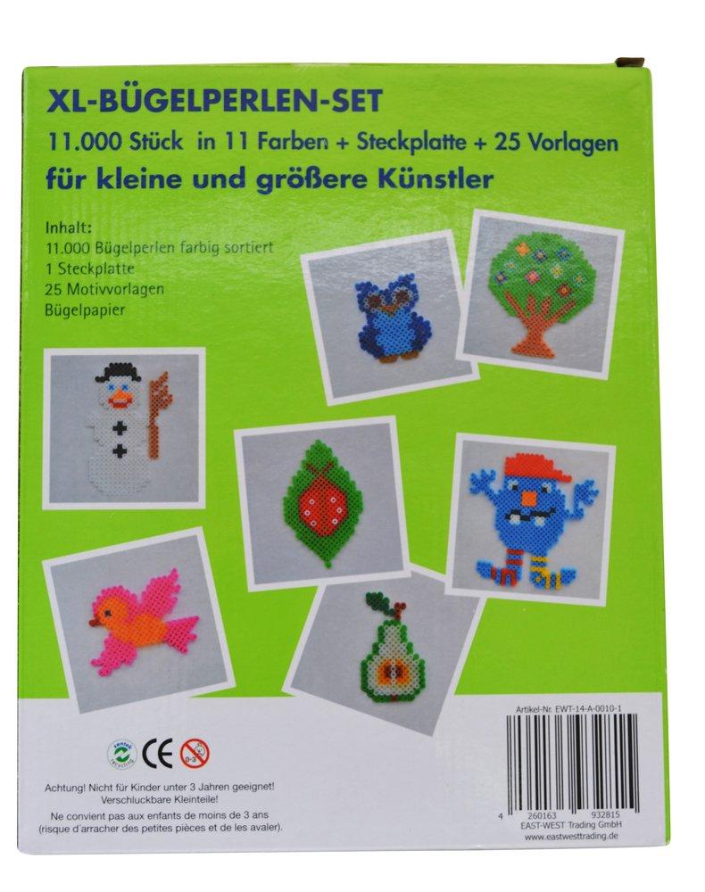 11 Farben Bügelperlen Set 11.000 Teile Verschiedene Steckplatte Vorlagen