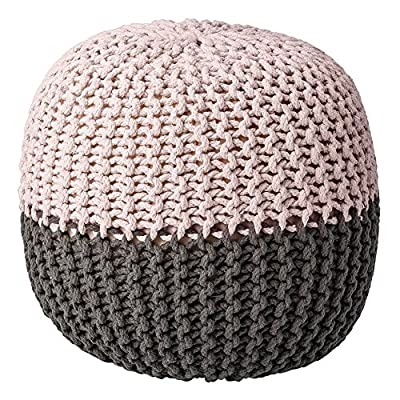 Bloomingville Cotton Pouf, Grey/Nude